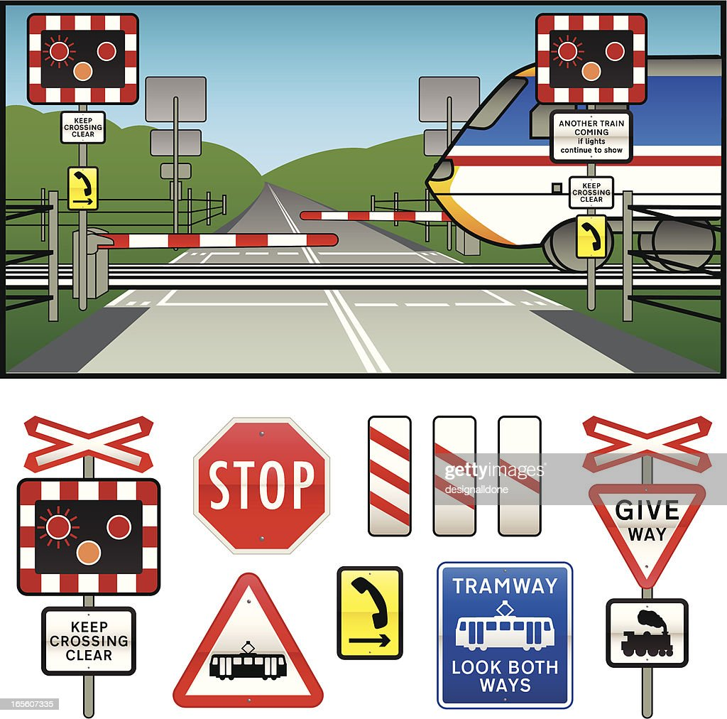Level Crossing warning Signs Collection