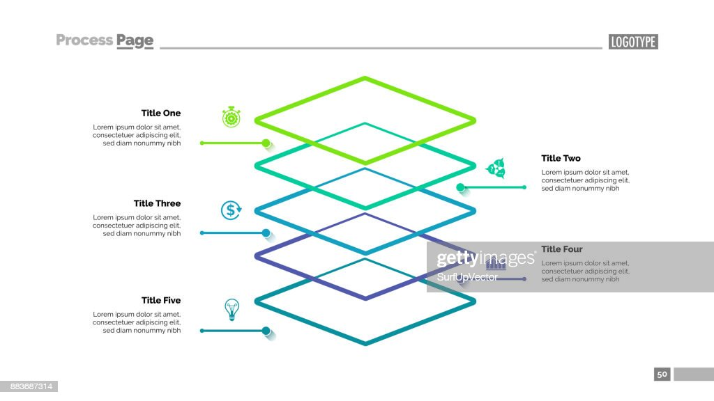 Level Diagram with Five Elements Template