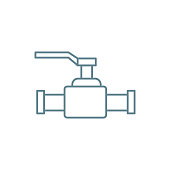 Lever valve linear icon concept. Lever valve line vector sign, symbol, illustration.