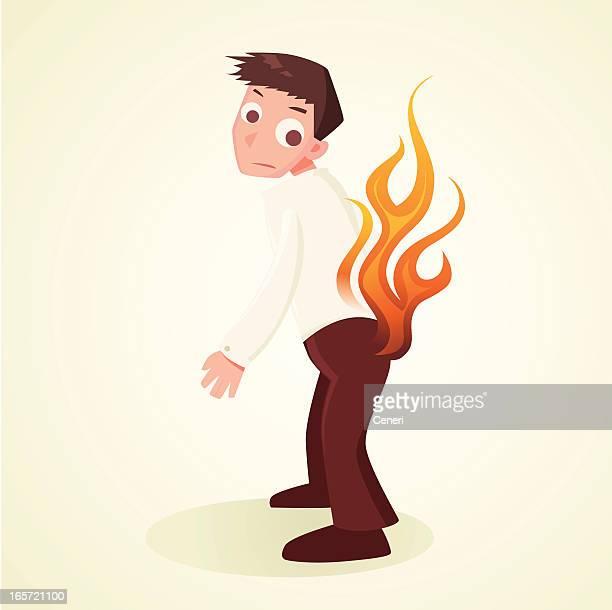 Menteur pantalon en feu de
