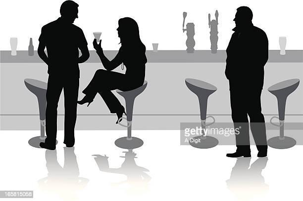 liasons vector silhouette - stool stock illustrations, clip art, cartoons, & icons