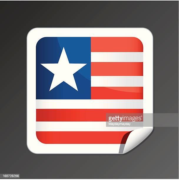 liberia flag icon - liberia stock illustrations, clip art, cartoons, & icons