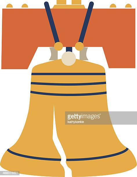 liberty bell color - liberty bell stock illustrations