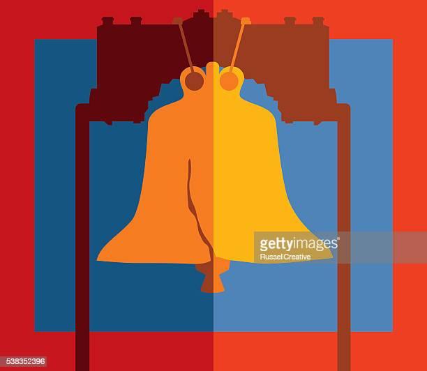 liberty bell - liberty bell stock illustrations