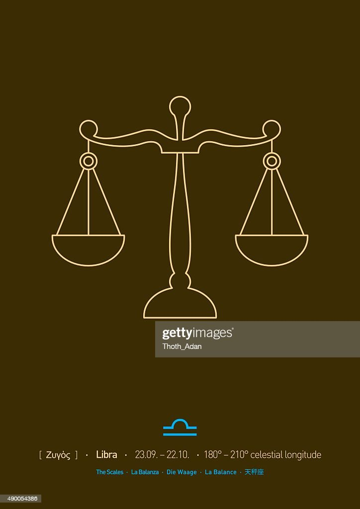 Libra Sign Of Zodiac Vector Art Getty Images