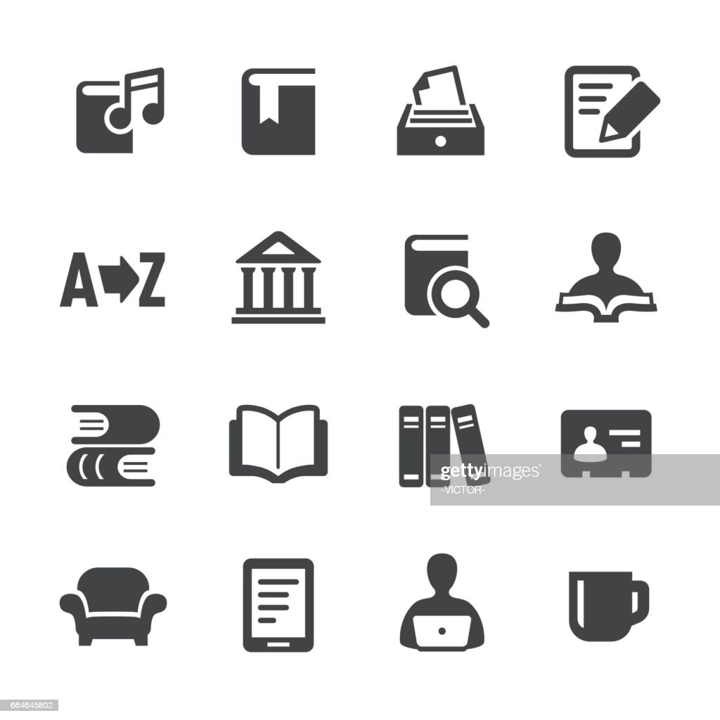 Library and books Icons - Acme Series : stock illustration