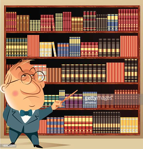 library and professor - bookstore stock illustrations, clip art, cartoons, & icons