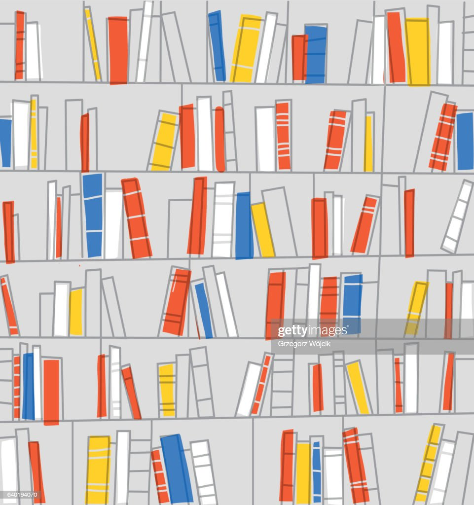 Library background. Vector illustration.