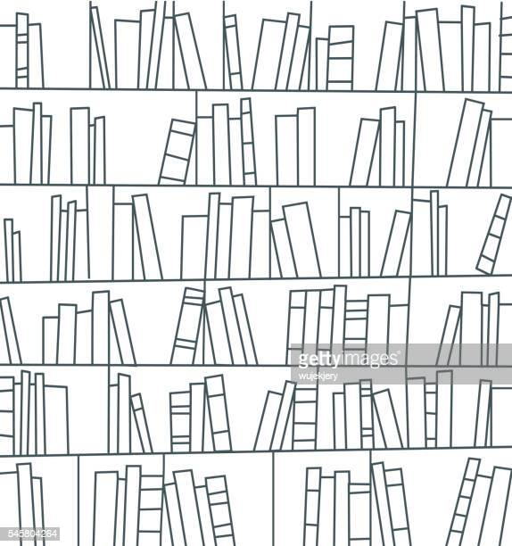 library, bookshelf - library stock illustrations