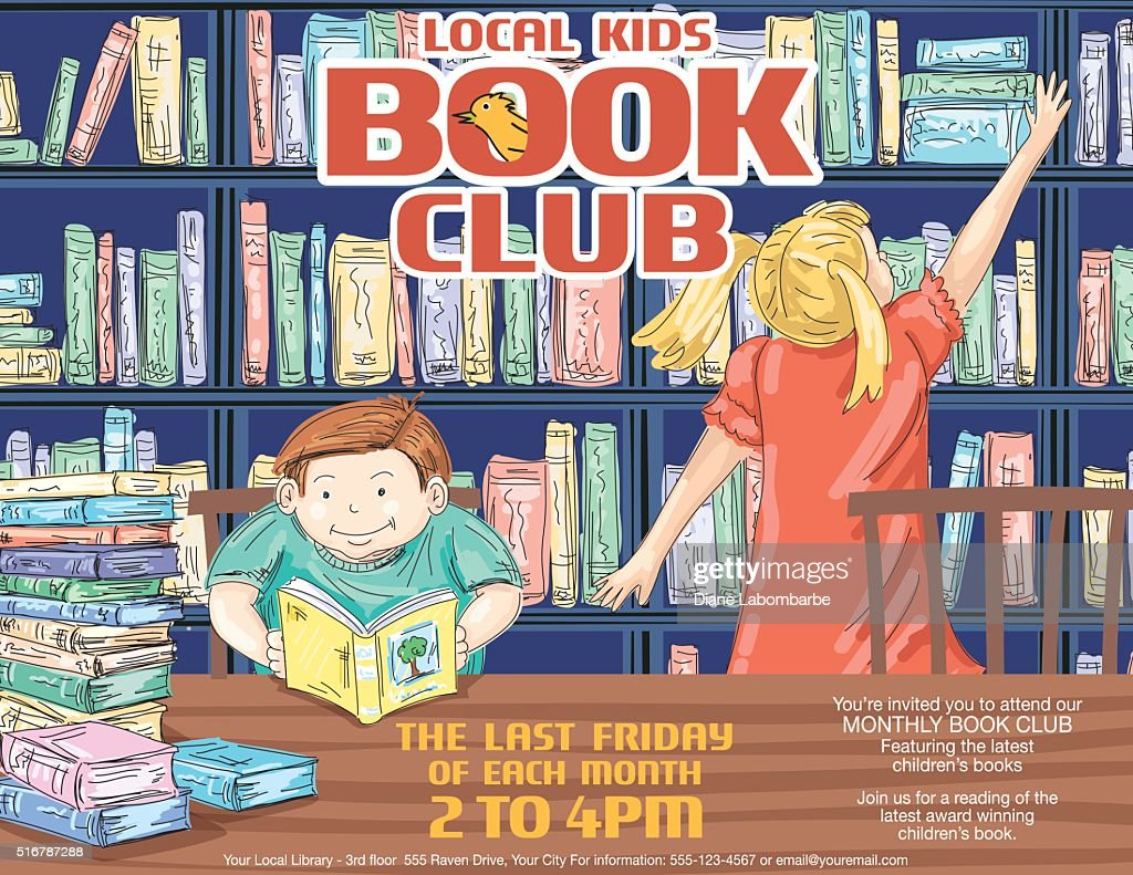 Library Kids Book Club Poster Template