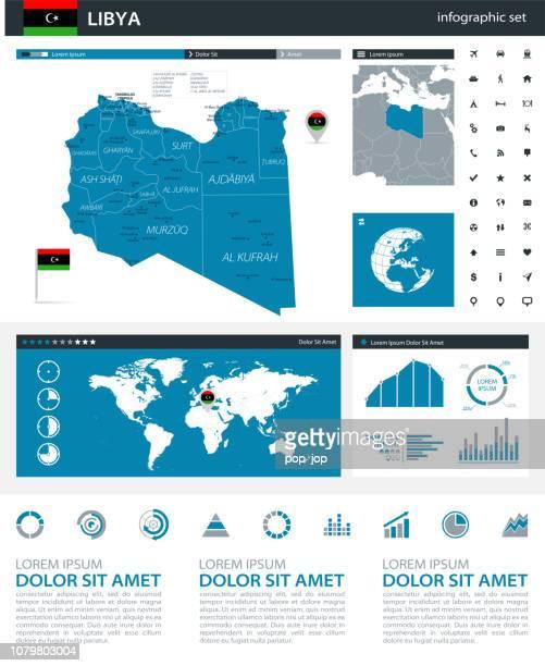 34-リビア - インフォ グラフィック灰色青い q10 - ミスラタ点のイラスト素材/クリップアート素材/マンガ素材/アイコン素材