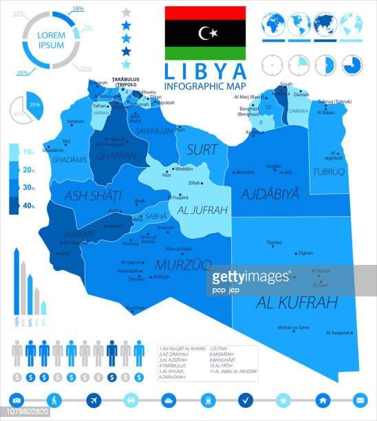 05-リビア - ブルー スポット インフォ グラフィック 10 - ミスラタ点のイラスト素材/クリップアート素材/マンガ素材/アイコン素材