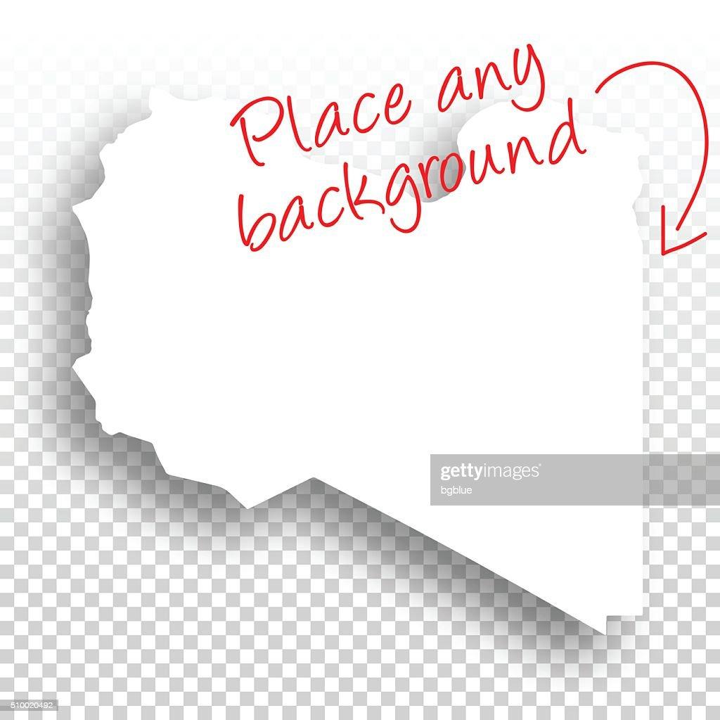 Libya Map For Design Blank Background Vector Art Getty Images - Libya blank map