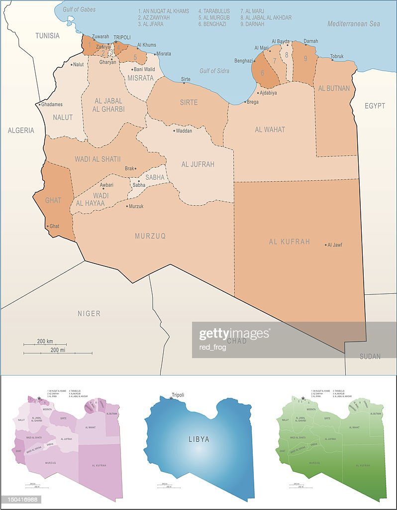 Libya Map Vector Art Getty Images