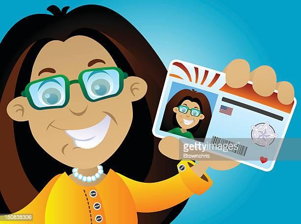 illustrations, cliparts, dessins animés et icônes de fille de licence - permis de conduire