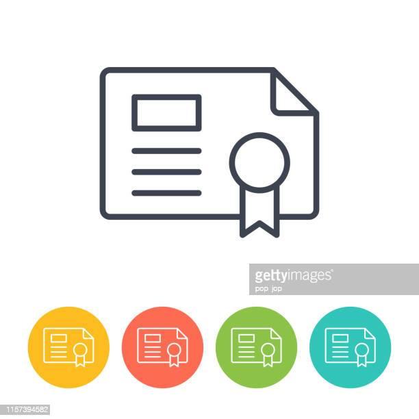 illustrations, cliparts, dessins animés et icônes de icône de licence - vecteur de ligne mince. santé et médecine - permis de conduire
