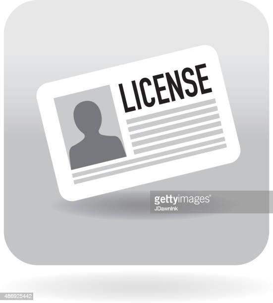 illustrations, cliparts, dessins animés et icônes de icône de modèle de licence - permis de conduire