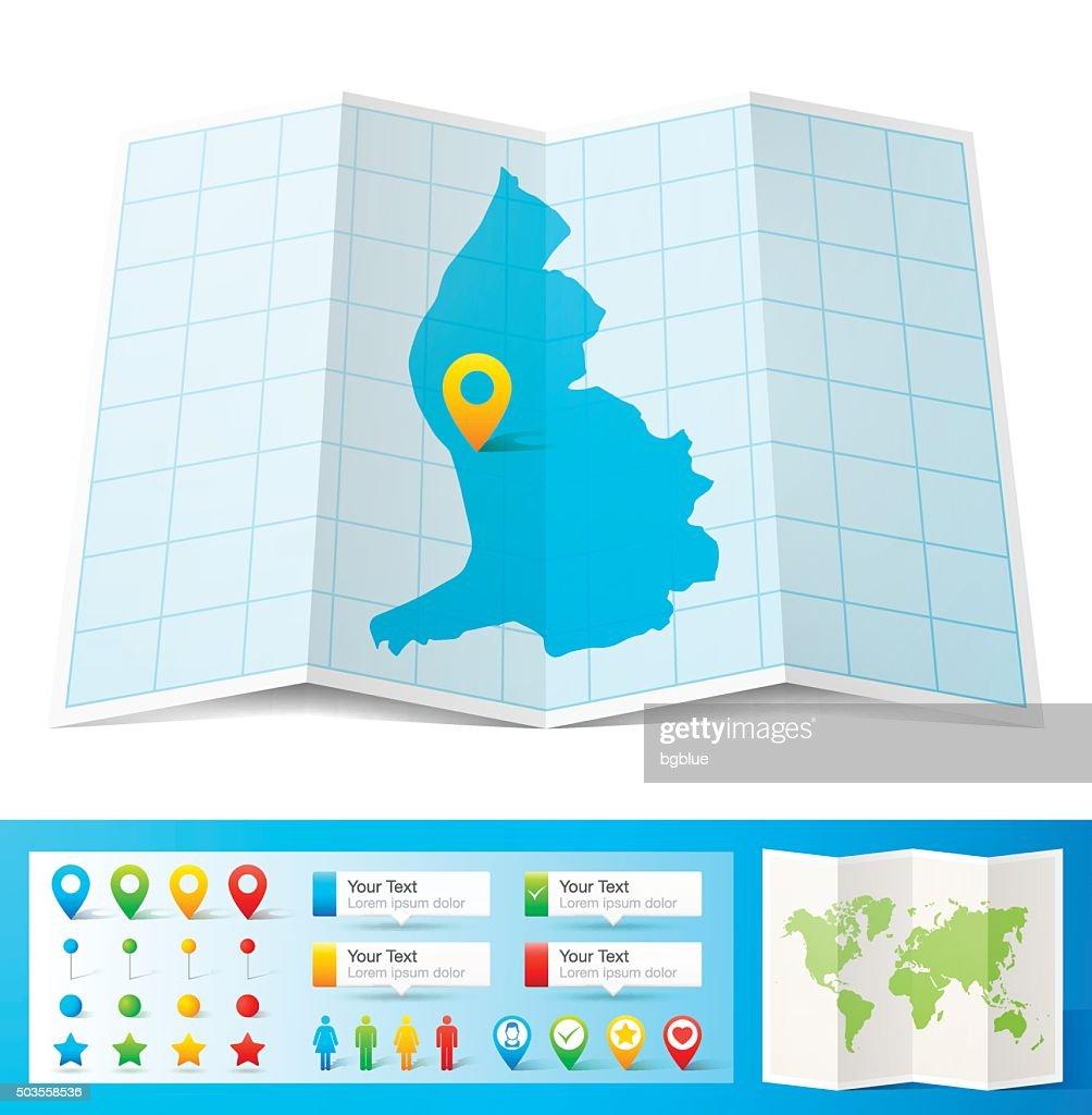 Green Map Of Liechtenstein Cities And Flag Vector Art Getty Images