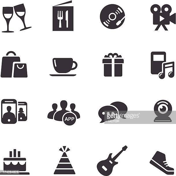 ilustraciones, imágenes clip art, dibujos animados e iconos de stock de iconos de entretenimiento y de vida de acme serie - bajo eléctrico