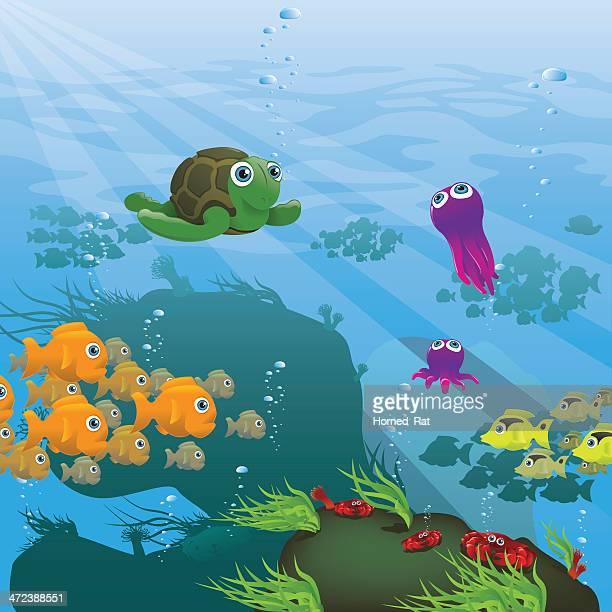 Life Aquatic - Reef - Illustration