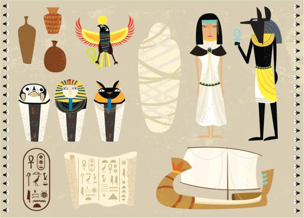 寿命、エジプト - ミイラ点のイラスト素材/クリップアート素材/マンガ素材/アイコン素材