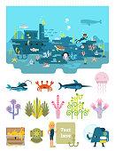 Life below water illustration