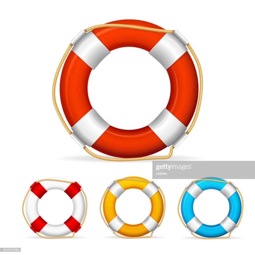 Life Buoy Color Set. Vector