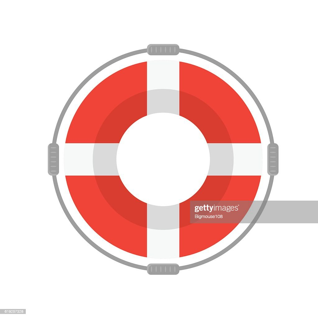 Life Buoy with Rope. Vector