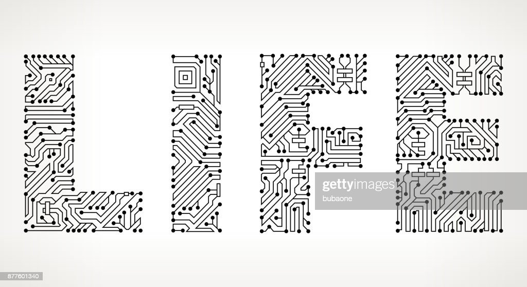 Life Circuit Board Vector Buttons Vector Art | Getty Images