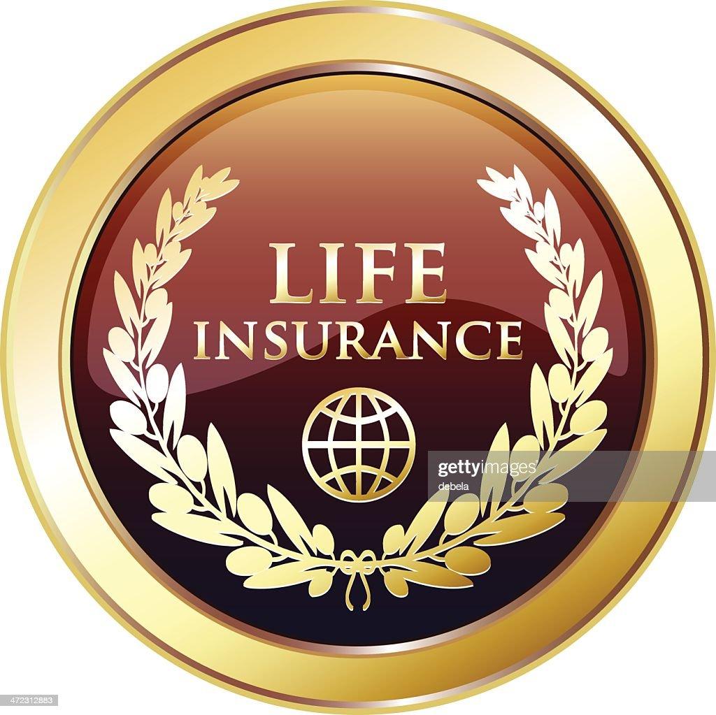 Life Insurance Golden Award : Vector Art