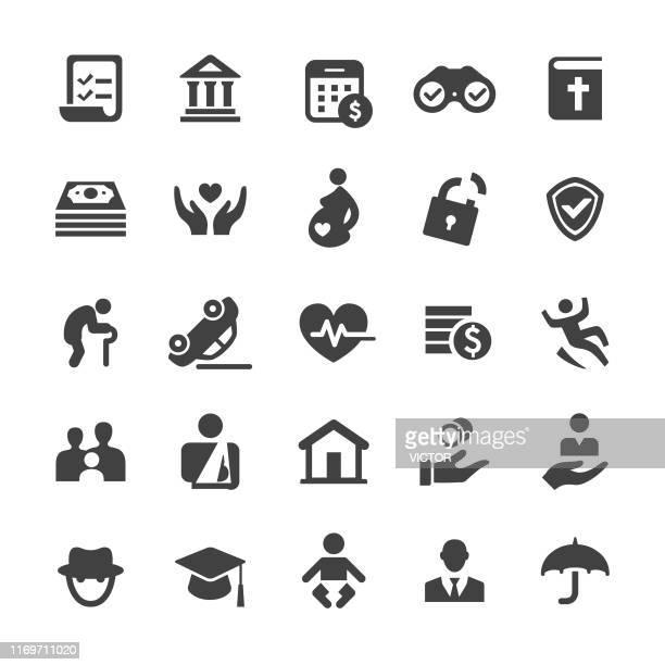life insurance icons - smart series - clip art family stock illustrations