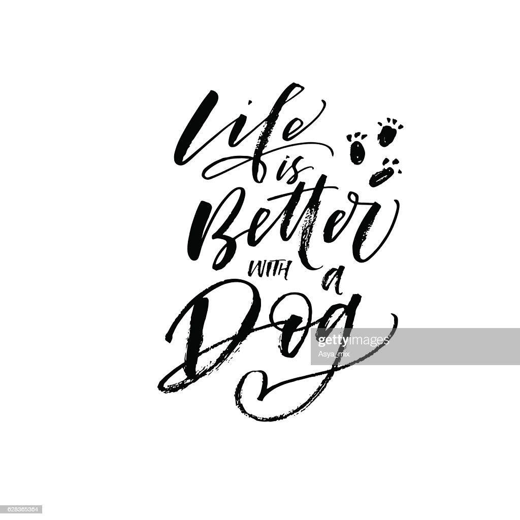 Life is better with a dog postcard.