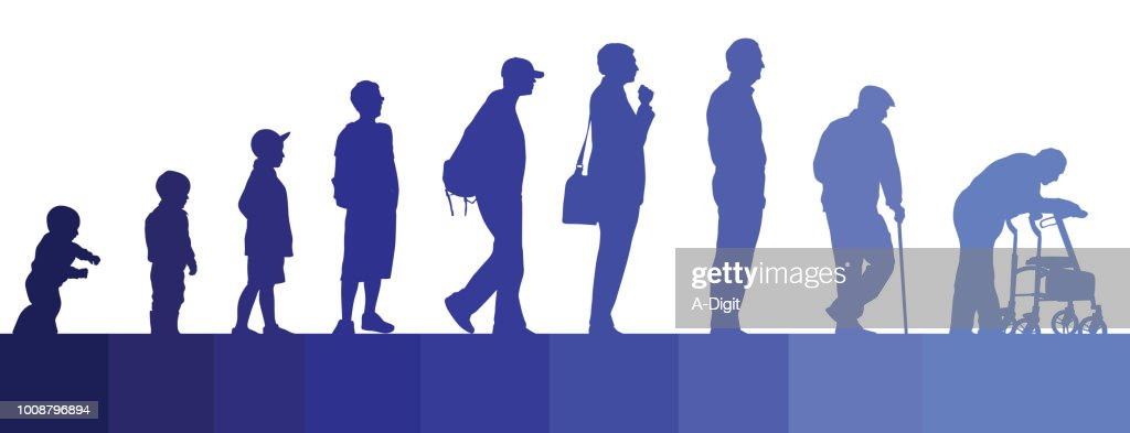 Life Journey Men : Stock Illustration