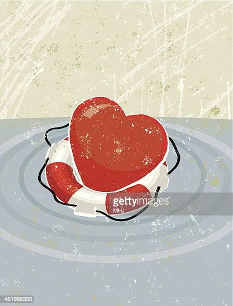 Life Ring Saving a Heart