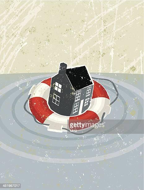 Life Ring Saving a House