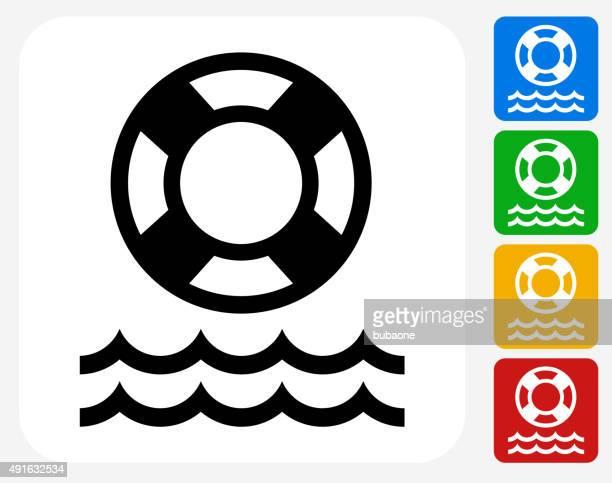 Protector de vida ícone Flat Design gráfico