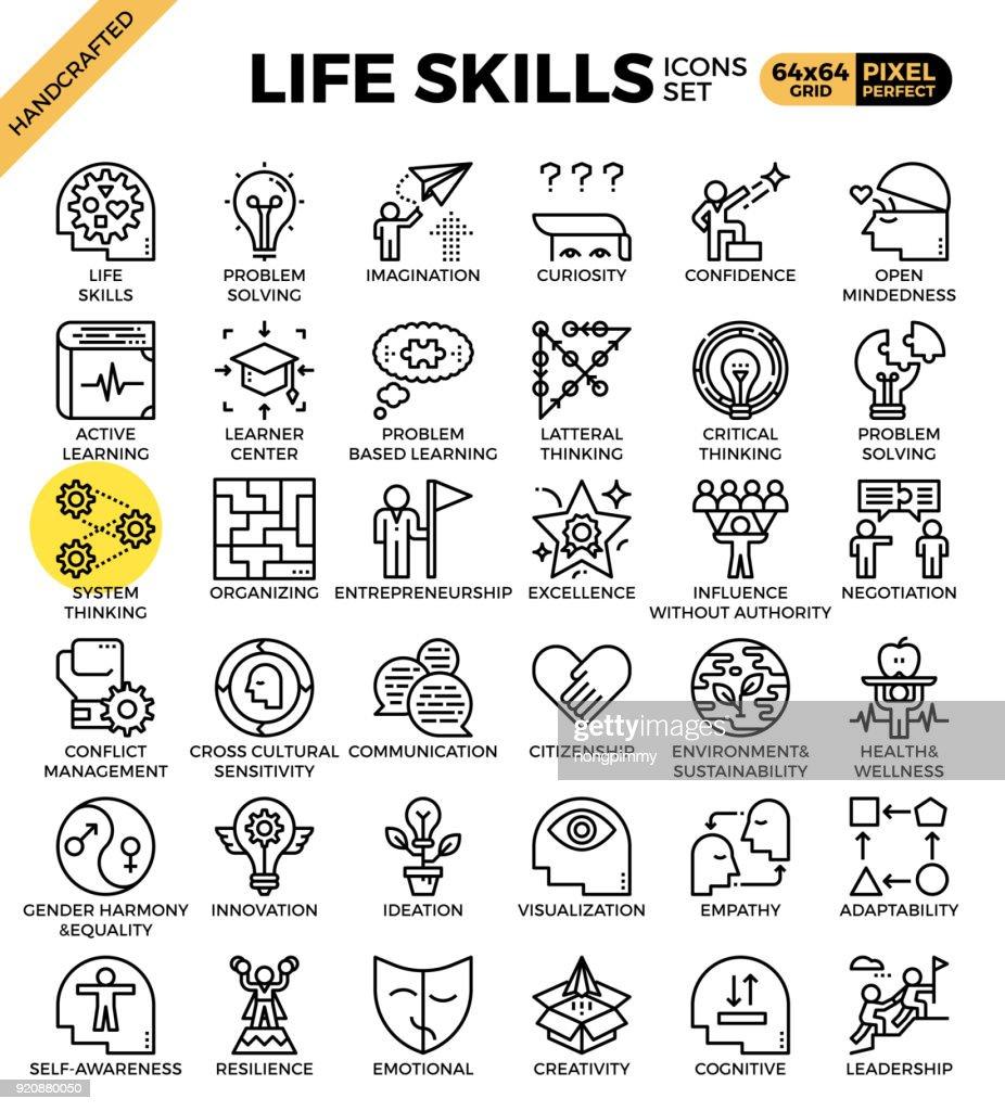 Life skills concept icons