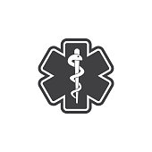 Life star medical snake icon.