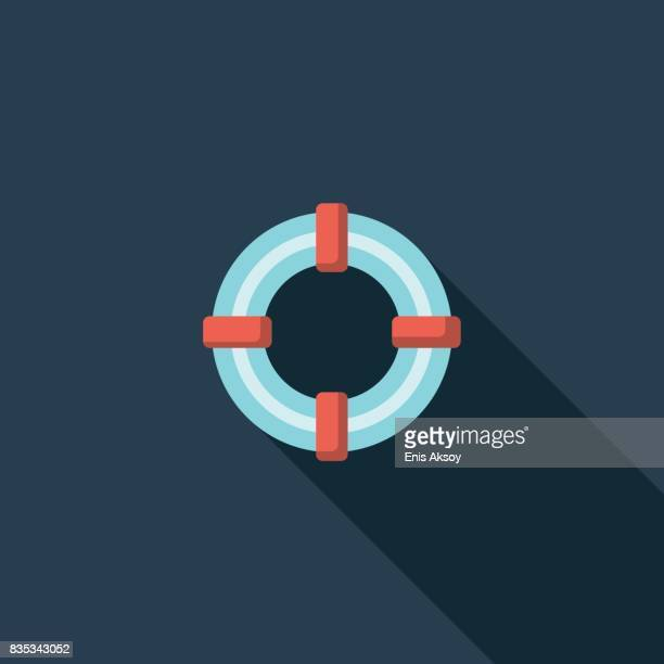 Lifebuoy Flat Icon