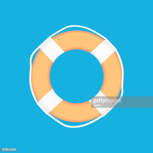 Lifebuoy icon with Rope