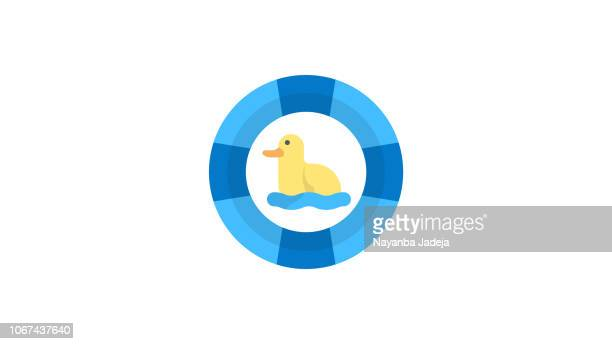 lifeguard buoyant vector icon - safety american football player stock illustrations, clip art, cartoons, & icons