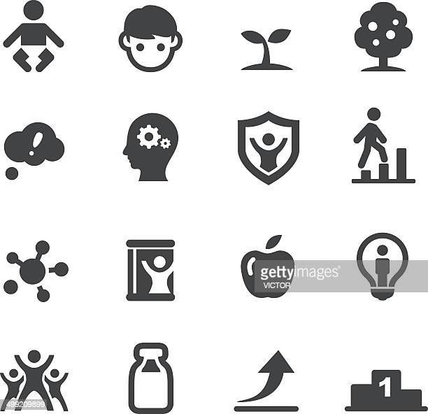 lifestyle - growth icons - acme series - calcium stock illustrations, clip art, cartoons, & icons