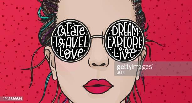 lifestyle - eyeglasses stock illustrations