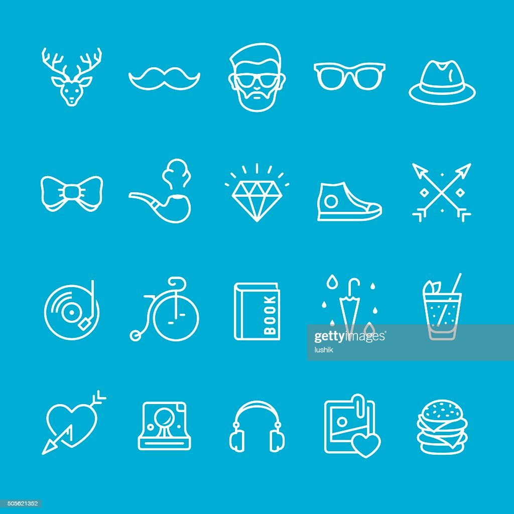 Lifestyles and City Life icons collection