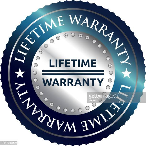 Lifetime Warranty Luxury Silver Round Label