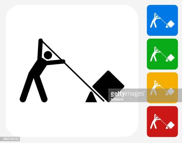 Levantamento ícone Flat Design gráfico