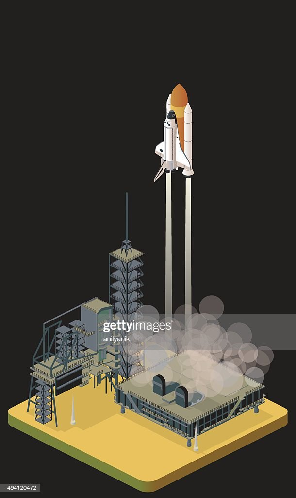 liftoff : stock illustration