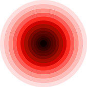 light and dark color changing circular vector pattern red