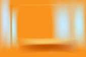 light and ocher brown lines on orange background.abstract vector