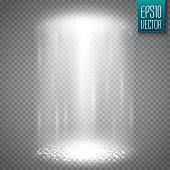 UFO light beam isolated on transparnt background. Vector